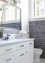 Grey Accent Wall by Bathroom Gray Painted Accent Wall Small White Wooden Bathroom
