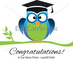 graduation owl congrats owl graduation logo vector of school and eps