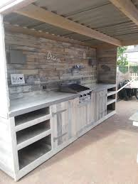 kitchen cabinets made out of pallet wood 21 best outdoor kitchen ideas and designs pictures of