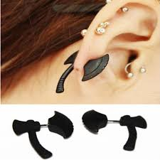 two sided earrings black axe ax two sided earrings out creepy