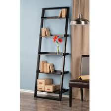 Sauder 5 Shelf Bookcase Assembly Instructions by Leaning Wall 5 Shelf Bookcase Black Walmart Com