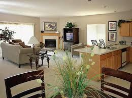 simple open floor plans open concept living room dining room