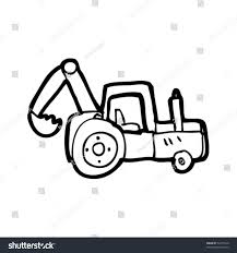 quirky drawing digger stock vector 52370140 shutterstock