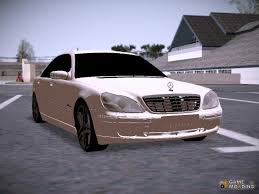 mercedes s600 amg s600 amg for gta san andreas
