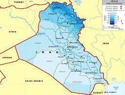 map of irak iraq fanack water