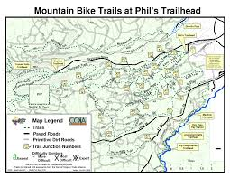 Bend Oregon Map Mountain Bike Trails At Phil U0027s Trailhead Recreation In The Bend