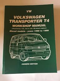 vw t4 transporter volkswagen workshop manual diesel 19 24 25 tdi