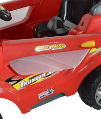 red toy jeep toyhouse thunder jeep 6v rechargeable battery operated ride on suv