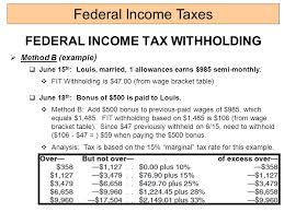 Irs Tax Withholding Tables Calculating Federal Income Tax On Form 1040 2014 Ppt Video
