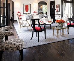 Black Round Area Rugs by San Francisco Black And White Living Room Eclectic With Red Accent