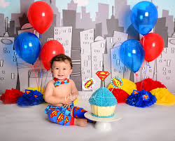 cake smash cotton cloud photography sydney australia superman