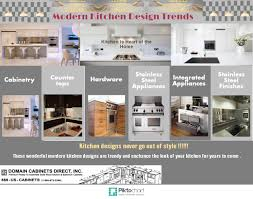 modern kitchen design trends visual ly