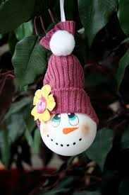 how to make a snowman ornament from a recycled light bulb hubpages