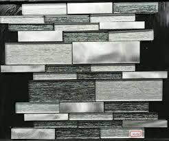 aluminum glass tiles for kitchen backsplash stainless steel mosaic