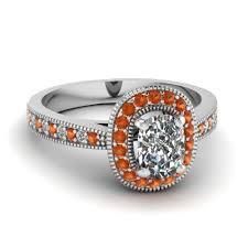 Cushion Cut Halo Diamond Engagement Ring In Platinum Classy Cushion Cut Halo Engagement Rings Fascinating Diamonds