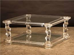 square lucite coffee table square acrylic coffee table blackley