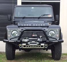 defender land rover off road land rover defender tubular winch bar rijidij off road