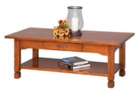 Country Coffee Table by Elm Crest 673 Rustic Country Coffee Table