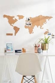 Home Decor Aus Weltkarte Selber Machen Aus Kork Korkplatten Stuhl Schreibtisch