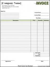 Invoice Templates For Excel 100 Free Invoice Templates Word Excel Pdf Formats