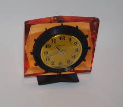 russian home decor vintage clock soviet molnija clock old mechanical table clock