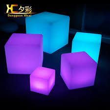 40cm rechargeabe cordless outdoor garden decorative led cube stool