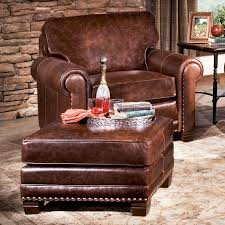 Ottoman Brothers Traditional Chair And Ottoman With Nailhead Trim By Smith Brothers