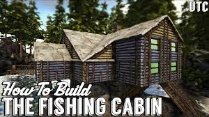 how to build a cabin house ragnarok fishing cabin ark building tutorial no mods how