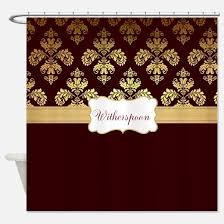Burgandy Shower Curtain Burgundy And Gold Shower Curtains Cafepress