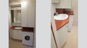 meuble sur mesure avec un emplacement pour la machine à laver et