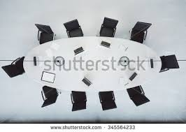 Football Conference Table Top View Conference Table Office Accessories Stock Illustration