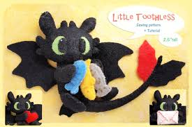 toothless felt pattern pdf for sale by piquipauparro on