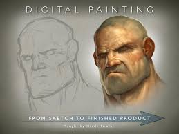 digital painting from sketch to finished product hardy fowler