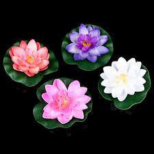 aliexpress com buy artificial fake lotus flowers water lily