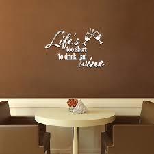 slogan cuisine carpe diem slogan mirror wall sticker decoration backdrop