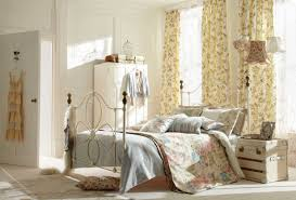 shabby chic bedroom decorating ideas with iron bed frame home
