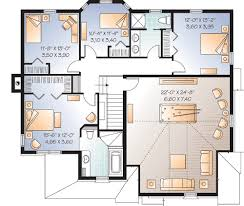 Game Room Floor Plans 3 Bedrooms And Roomy Game Room 21990dr Architectural Designs