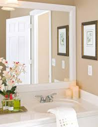 White Framed Mirror For Bathroom White Framed Bathroom Mirrors Mirrors Pinterest Frame