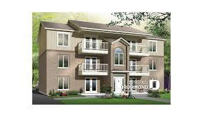 appartement avec une chambre plan de maison multi logements pléiade w3036 dessins drummond