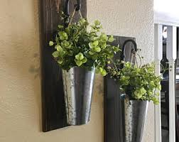 galvanized wall planter etsy
