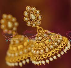 buy jhumka earrings online j5602 pearl broad fancy jhumka online artificial fashion jewellery