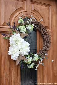 hydrangea wreath make a hydrangea wreath for your front door