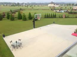 backyard basketball court dimensions half image of loversiq