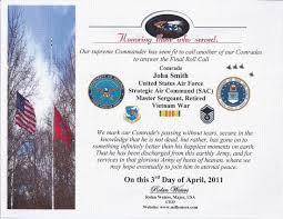 Military Funeral Flag Presentation Ceremony