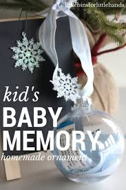 baby memory ornament homemade christmas for kids