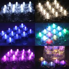Waterproof Vase Lights 12 24 36 Pcs Led Submersible Waterproof Wed Xmas Decor Vase Tea