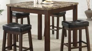 Pub Bar Table Modern Dining Room Design With 5 Piece Dark Brown Modern Pub Table