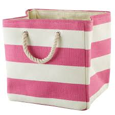stripes around the cube bin pink the land of nod