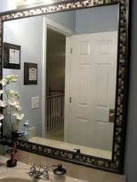 Framing Bathroom Mirrors by Diy Framed Mirror Tutorial Thick Baseboard I Think It Was About