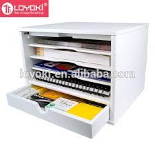 Office Desk Organizer by 4 Shelf Desktop Organizer Mdf Wood Office Desk Document Collection